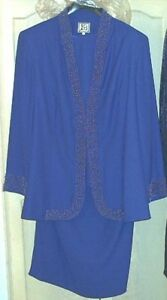 "***Sz-24W-3 Piece Royal Blue ""Katherine Bishop"" Ensemble-NEW***"