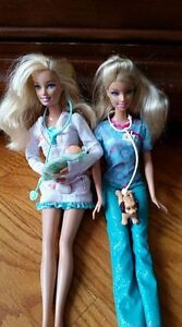 Vet and Doctor Barbies