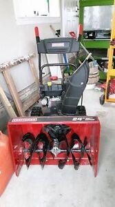 "24"" Dual Stage Electric Start Craftsman Snowblower"
