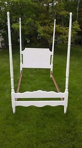 four posted twin bed frame