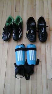 soccer shoes and pads size 5