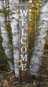 Fall Welcome sign Hand painted