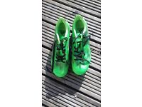 Green Adidas Football Boots, Size 7, like new