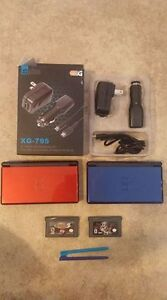 Two Nintendo DS Lite Systems With Car & Wall Charger Plus 2 Game