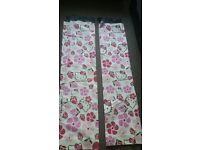 Pair of Hello Kitty Curtains