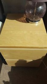 2 2 draw bedside tables (MALM) from ikea.