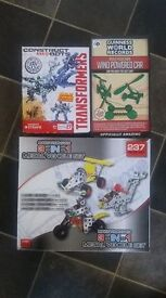 small bundle of new construction toys
