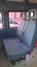 double seat with seatbelts