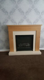 fire place with surround