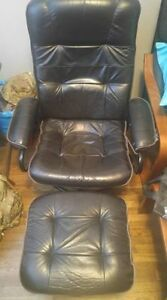 Leather Chair & Ottoman,   Ikea Chair & Ottoman, Sofa