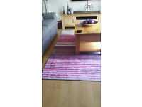Large Next Rug excellent condition pink/grey/plum