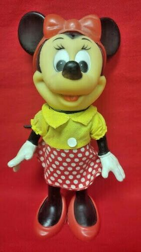 "VINTAGE Rare 1976 1978 Disney Minnie Mouse R. DAKIN 8"" FIGURE ORIGINAL Plastic"
