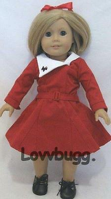 "Lovvbugg Kit Holiday Christmas Dress for 18"" American Girl Thirties Style Doll Clothes"
