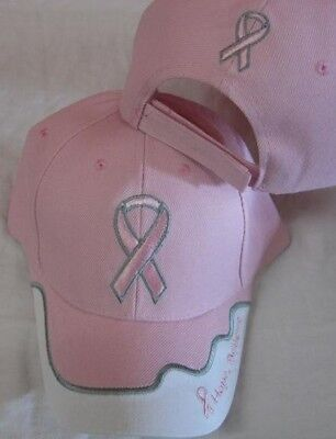 PINK RIBBON BREAST CANCER AWARENESS BASEBALL STYLE EMBRODERED HAT ball cap A95