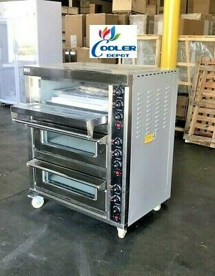 New Commercial Electric Triple Pizza Oven Bakery Pizzeria Cooker Wings 220v 3ph