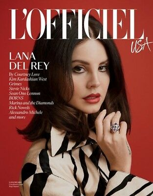 L'OFFICIEL MAGAZINE LANA DELREY USA 2018 FIRST ISSUE