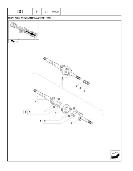 New Holland B95btc Tier 3 Backhoe Loader Parts Catalog