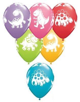 DINOSAUR Dino T-Rex Cute Style (6) Birthday Party Multicolored Latex Balloons - T Rex Balloon