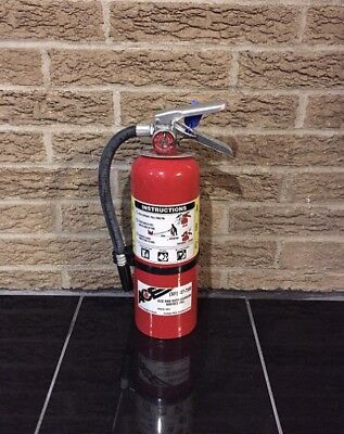Refurbished 5lb Abc Fire Extinguisher New Bracket Cert Tag Nice