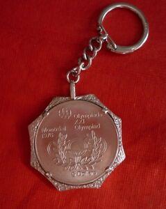 1976 Montreal Olympics $5 silver coin and Sterling Keychain