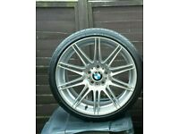 "×1 GENUINE BMW 19"" 225M MV4 8J ALLOY WHEEL REFERBISHED E46, E90, E91, E92, E93, EXC"