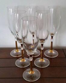 Set Of 6 Champagne/Prosecco Flutes.