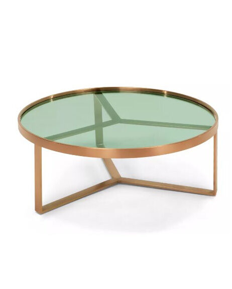 Glass Coffee Tables Gumtree: Aula Coffee Table Copper And Green Glass By Made