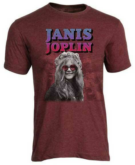 Janis Joplin Rose Farbig Brille Psychedelische Rock Musik T-Shirt PSP-JAN-1004