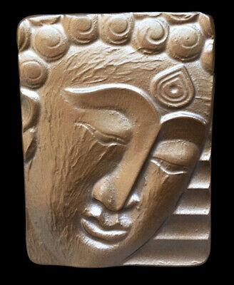 Buddha Face Head Oriental Sculpture Relief wall plaque replica in Bronze finish Buddha Bronze Finish