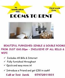 Rooms to rent in Worksop, Shirebrook, Mansfield, Retford. Prices from 50 p/w