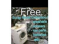 Free scrap metal collection - household / commercial / car parts