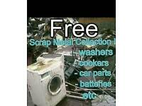 Scrap metal collected free