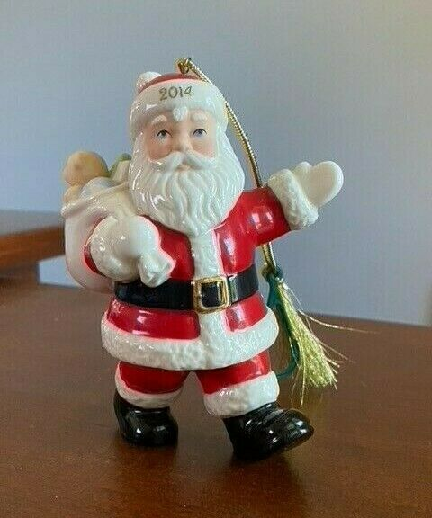 """Lenox 2014 Special Delivery Santa Ornament. 4.25"""". Used in Excellent Condition"""