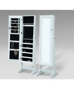 Stylish Mirrored Jewelry Cabinet / European Adjustable Jewelry