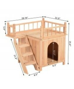 Pet House Cat Tree 2-Story / Platform Outdoor Kennel w/ Stairs Oakville / Halton Region Toronto (GTA) image 3