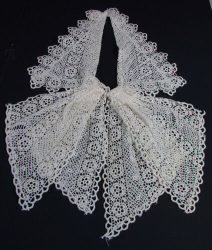 """Vintage Cream Lace Hand Made Collar  14"""""""