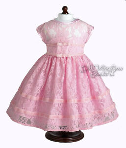 EASTER-LACE-DRESS-PINK-made-for-18-American-Girl-Doll-Clothes-GORGEOUS