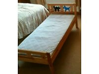 Child's bed-Ikea Kritter(with mattress)-excellent condition