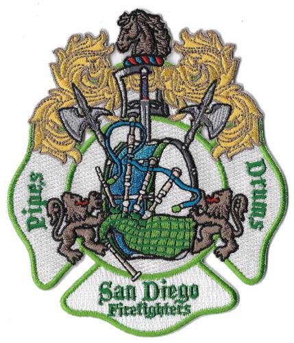 San Diego Pipes & Drums Emerald Unique Design Fire Patch