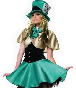 Mad hatter womens costume with shoes