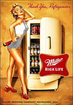 Miller High Life Beer Thanks  Refrigerator / Tool Box  Magnet Man Cave