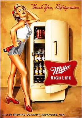 Miller High Life Beer Thanks  Refrigerator / Tool Box  Magnet Man Cave