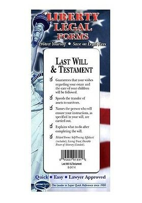 Last Will & Testament Legal Forms Kit - USA - by Permacharts