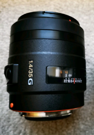 Sony G 35mm f1.4 (for Sony A Minolta AF) =mint