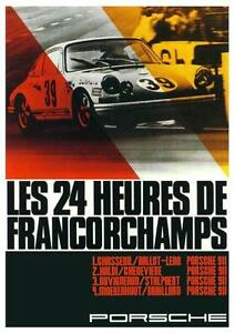 Porsche-POSTER-911-SPA-24-Hours-Francorchamps-AMAZING-ART-PRINT