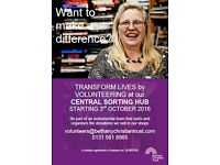 Volunteer with Bethany Christian Trust - Central Sorting Hub