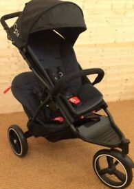 Phil and Ted Dot double buggy with lots of accessories