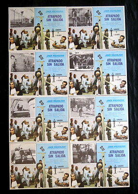 ONE FLEW OVER THE CUCKOO'S NEST Jack Nicholson LOUISE FLETCHER LOBBY CARD SET