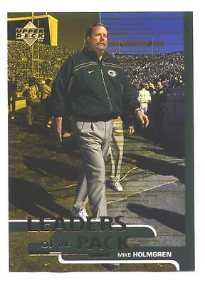 1998 Ud Shopko Mike Holmgren Packers Coach Leaders Of Pack Super Bowl Regional