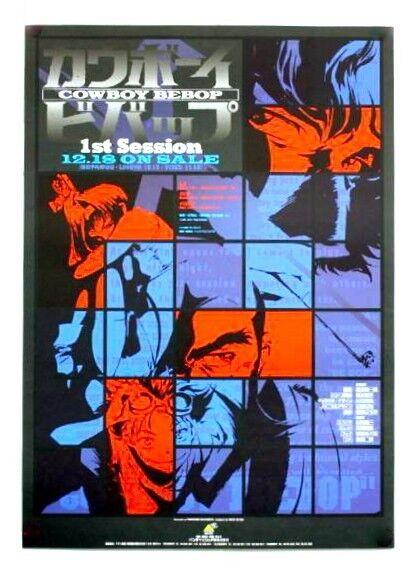 Cowboy Bebop poster : 1st Session / 1999s rare ver (made in Japan) SALE